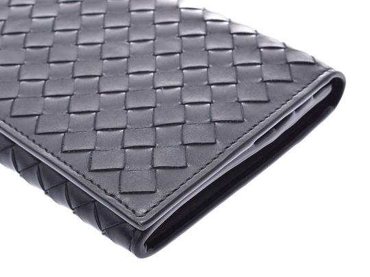 Bottega Veneta Bottega Veneta Folded Wallet Intrechart Black Men's Women's Leather BOTTEGA VENETA Image 4