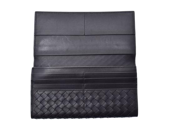 Bottega Veneta Bottega Veneta Folded Wallet Intrechart Black Men's Women's Leather BOTTEGA VENETA Image 5