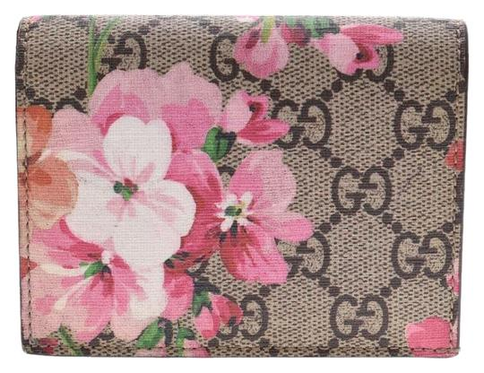 Gucci Gucci GG Blooms Compact Wallet Beige / Pink Floral Ladies PVC New Goods GUCCI Box Image 0