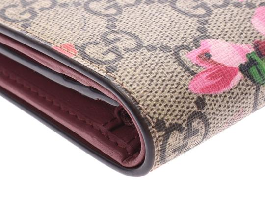 Gucci Gucci GG Blooms Compact Wallet Beige / Pink Floral Ladies PVC New Goods GUCCI Box Image 5
