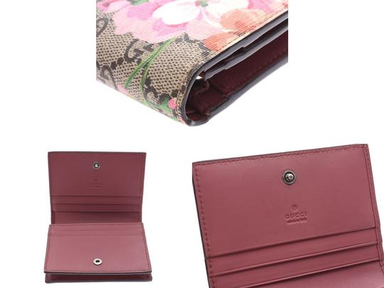 Gucci Gucci GG Blooms Compact Wallet Beige / Pink Floral Ladies PVC New Goods GUCCI Box Image 6