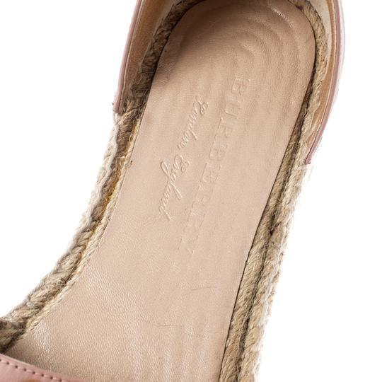 Burberry Studded Leather Canvas Pink Flats Image 6