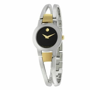 Movado Amorosa Stainless Steel Black Dial 0606893 Watch