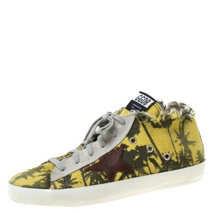 Golden Goose Deluxe Brand Canvas Rubber Leather Yellow Athletic