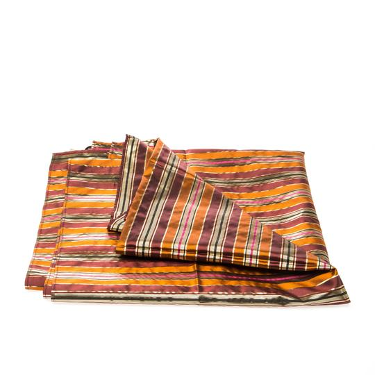 Céline Celine Multicolor Metallic Striped Silk Scarf Image 2