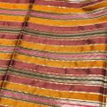 Céline Celine Multicolor Metallic Striped Silk Scarf Image 3