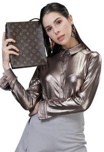 Louis Vuitton Night Out Travel Unsiex Cosmetic brown Clutch