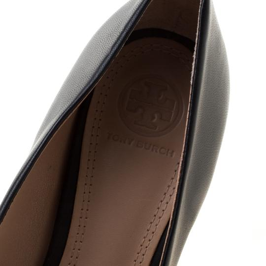 Tory Burch Leather Wedge Black Pumps Image 5