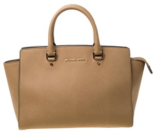 Michael Kors Leather Nylon Tote in Brown