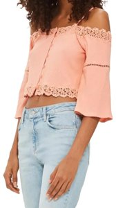 Topshop Summer Spring Festival Casual Party Top Coral