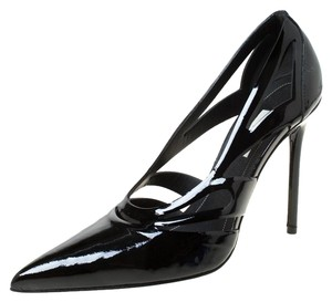 Balenciaga Patent Leather Pointed Toe Black Pumps