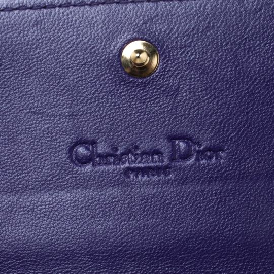 Dior Dior Purple Cannage Leather Lady Dior Rendez-Vous Wallet On Chain Image 8