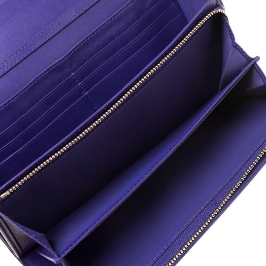Dior Dior Purple Cannage Leather Lady Dior Rendez-Vous Wallet On Chain Image 9