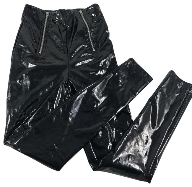 Item - Black Shiny Hot Pants Size 4 (S, 27)