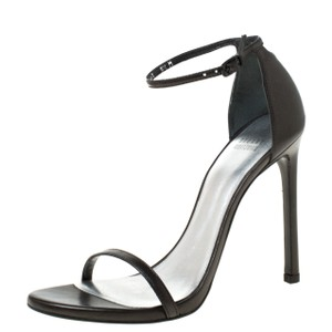 Stuart Weitzman Open Toe Black Sandals