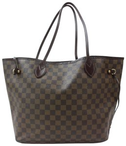 Louis Vuitton Checkered Checker Square Squares Boxes Tote in Brown