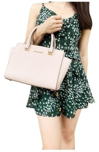Michael Kors Polyester Studded Leather Ballet Satchel in Pink