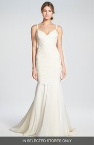 Katie May Ivory Monaco Lace and Chiffon Trumpet Gown Modern Wedding Dress Size 4 (S)