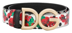 Dolce&Gabbana D&G logo floral leather belt size 80