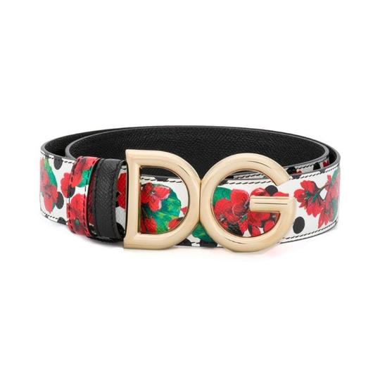 Dolce&Gabbana D&G logo floral leather belt size 80 Image 2