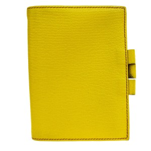 Hermès HERMES Agenda Day Planner Note Cover Leather Yellow France