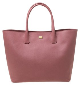 Dolce&Gabbana Leather Tote in Pink