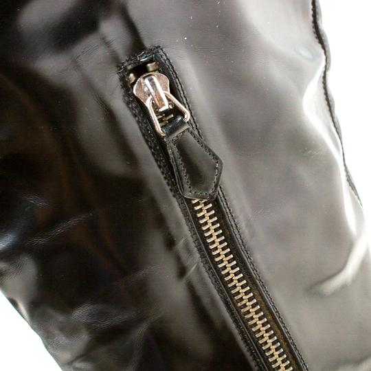 Burberry Leather Pointed Toe Zipped Black Boots Image 6