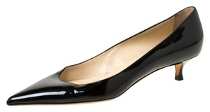 Jimmy Choo Patent Leather Kitten Black Pumps