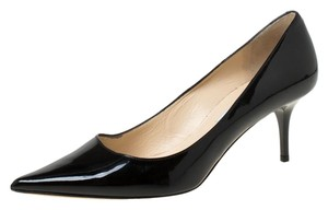 Jimmy Choo Patent Leather Pointed Toe Leather Black Pumps
