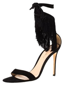 Gianvito Rossi Suede Ankle Black Sandals