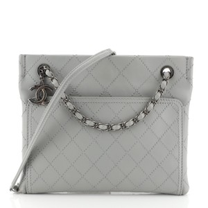 Chanel Calfskin Tote in gray