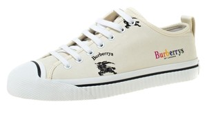 Burberry Canvas Leather Rubber Cream Athletic