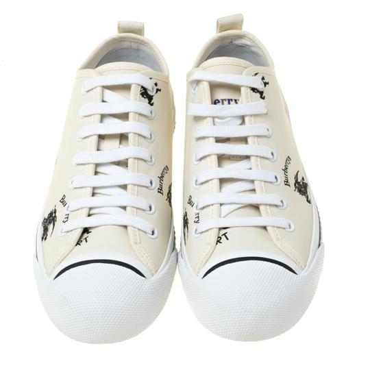 Burberry Canvas Leather Rubber Cream Athletic Image 1