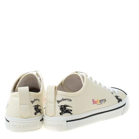 Burberry Canvas Leather Rubber Cream Athletic Image 2