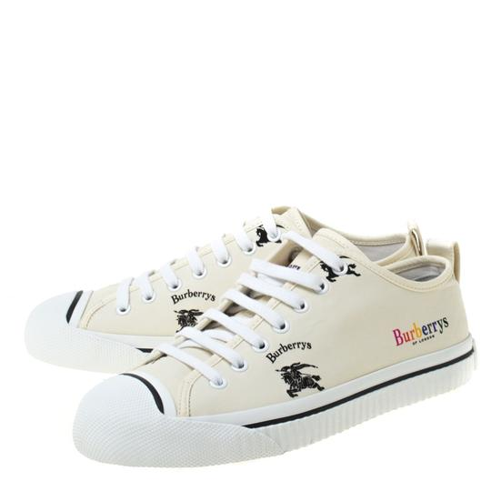 Burberry Canvas Leather Rubber Cream Athletic Image 5