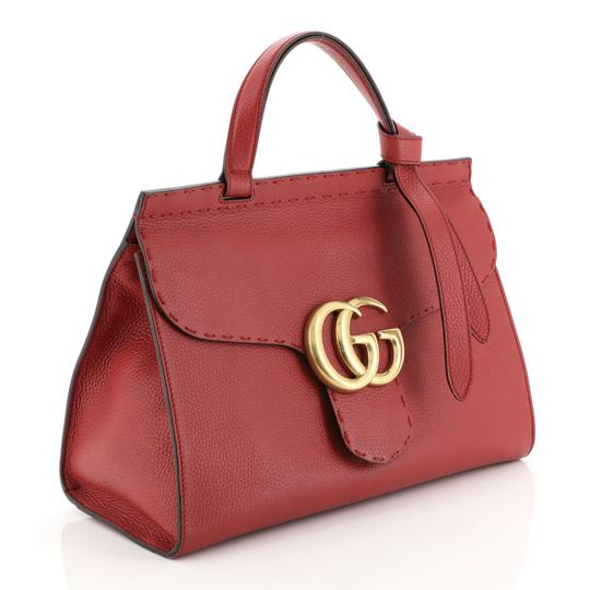 Gucci Gg Marmont Top Handle Satchel in red Image 1