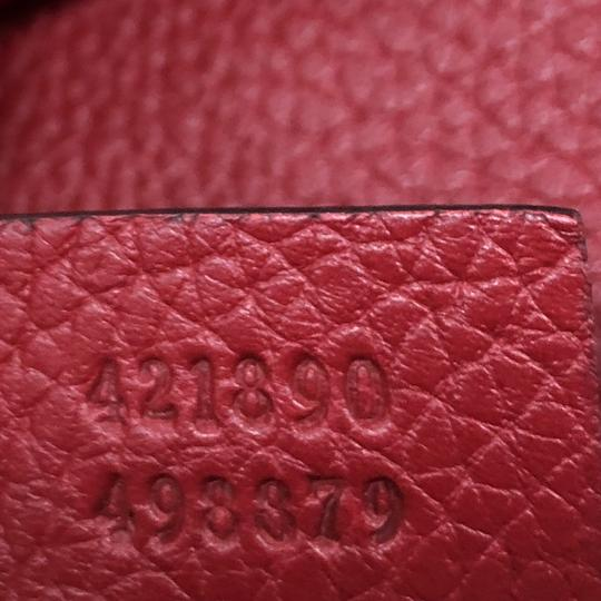 Gucci Gg Marmont Top Handle Satchel in red Image 5
