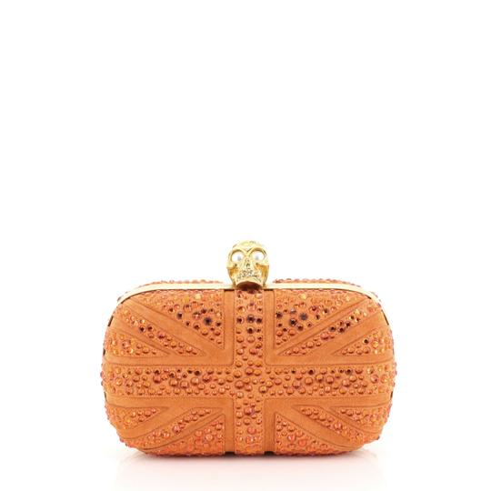 Preload https://img-static.tradesy.com/item/26007231/alexander-mcqueen-box-britannia-skull-studded-small-orange-suede-leather-clutch-0-0-540-540.jpg