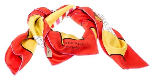 Burberry Burberry Bright Yellow London Map Print Silk Twill Square Scarf Image 0
