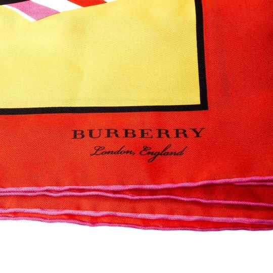 Burberry Burberry Bright Yellow London Map Print Silk Twill Square Scarf Image 3
