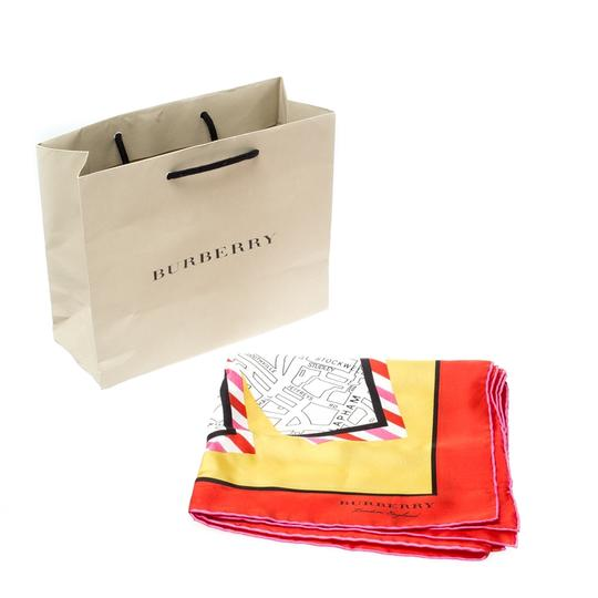Burberry Burberry Bright Yellow London Map Print Silk Twill Square Scarf Image 5