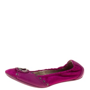 Dior Leather Studded Ballet Pink Flats
