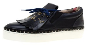 Burberry Leather Rubber Fringe Blue Athletic