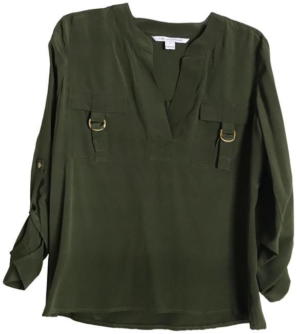 Item - Green Nwout Tag Silk Roll In Blouse Size 2 (XS)