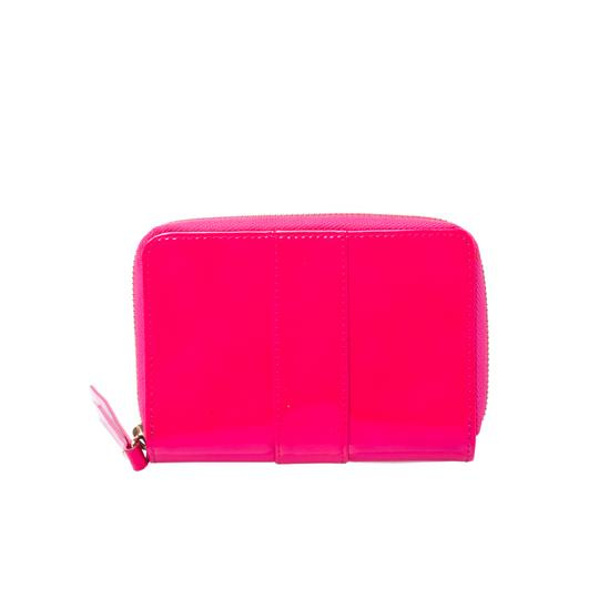 Christian Louboutin Christian Louboutin Neon Pink Patent Leather Sweet Charity Wallet Image 1