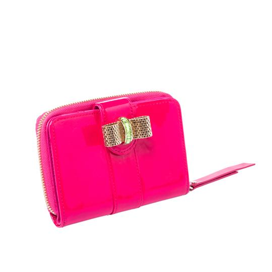 Christian Louboutin Christian Louboutin Neon Pink Patent Leather Sweet Charity Wallet Image 2