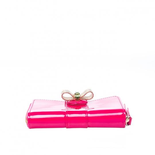 Christian Louboutin Christian Louboutin Neon Pink Patent Leather Sweet Charity Wallet Image 3