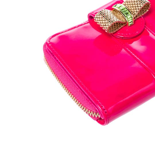 Christian Louboutin Christian Louboutin Neon Pink Patent Leather Sweet Charity Wallet Image 5