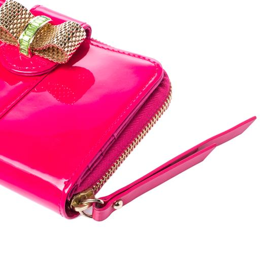Christian Louboutin Christian Louboutin Neon Pink Patent Leather Sweet Charity Wallet Image 7