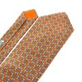 Hermès HERMES Logo Men's Suits Scarf Neck Tie 100% Silk Orange France Image 1